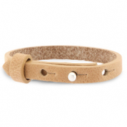 Cuoio bracelet leather 8 mm for 12 mm cabochon Light Cognac Brown