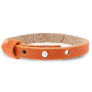 Cuoio bracelet leather 8 mm for 12 mm cabochon Burnt Orange
