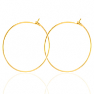 Stainless steel earrings 25mm Gold