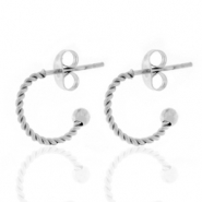 Stainless steel earrings creole 12mm Silver