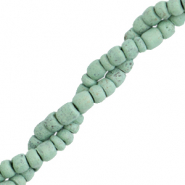 Coconut beads disc 4mm Basil Green