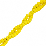 Coconut beads disc 4mm Freesia Yellow
