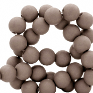 6 mm acrylic beads Incense Grey