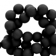 6 mm acrylic beads Black