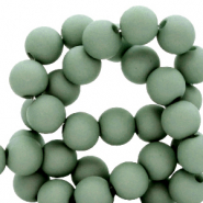 6 mm acrylic beads Basil Green