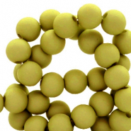 4 mm acrylic beads Olive Green