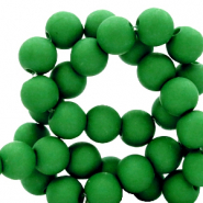 6 mm acrylic beads Fir Green