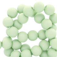 6 mm acrylic beads Neo Mint Green
