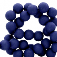 6 mm acrylic beads Dark Blue