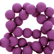 6 mm acrylic beads Deep Lavender Purple