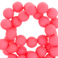 6 mm acrylic beads Hot Coral Pink
