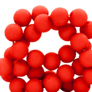 6 mm acrylic beads Flame Scarlet Red