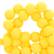 6 mm acrylic beads Freesia Yellow