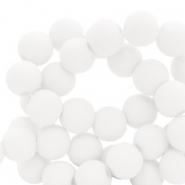 8 mm acrylic beads White
