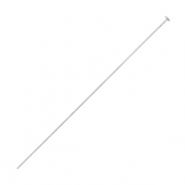 Stainless steel findings headpins 50mm Silver