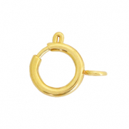 Stainless steel findings clasp 8x10mm Gold