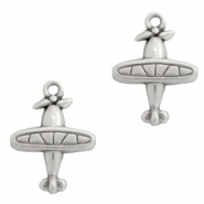 DQ European metal charms plane Antique Silver (nickel free)