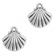 DQ European metal charms shell Antique Silver (nickel free)