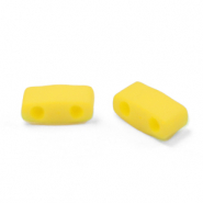 Miyuki beads half tila 5x2.3mm Opaque Matte Canary Yellow HTL-2311