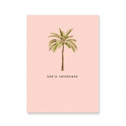 "Jewellery cards ""let's celebrate"" Peach-Green"