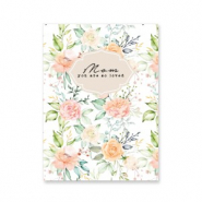 "Jewellery cards ""mom you are so loved"" Peach-Green"