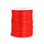 Satin wire 1.5mm Flame Scarlet Red