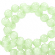 Polaris beads round 8 mm Mosso shiny Ash Green
