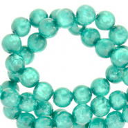 Polaris beads round 8 mm Mosso shiny Biscay Green