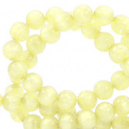 Polaris beads round 8 mm Mosso shiny Limelight Yellow