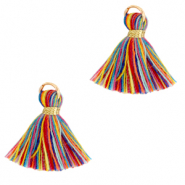 Tassels 1.5cm Gold-Multicolour