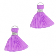 Tassels 1.5cm Silver-Light Purple