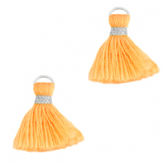 Tassels 1.5cm Silver-Paradise Orange