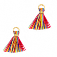 Tassels 1cm Gold-Multicolour