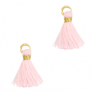 Tassels 1cm Gold-Light Pink