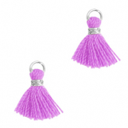 Tassels 1cm Silver-Light Purple
