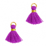 Tassels 1cm Gold-Orchid Purple