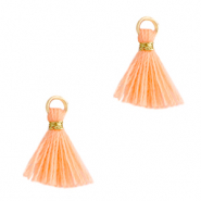 Tassels 1cm Gold-Bright Peach