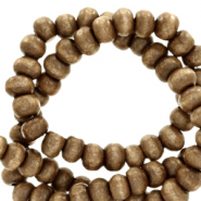 Wooden beads round 8mm Mandora Brown