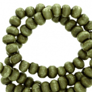 Wooden beads round 8mm Olive Green