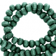 Wooden beads round 6mm Bistro Green