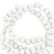 Wooden beads round 8mm White