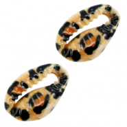 Shell beads specials Cowrie Brown Leopard