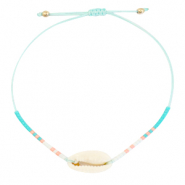 Anklets / Ankle bracelets Cowrie Miyuki Turquoise