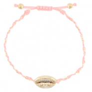 Anklets / Ankle bracelets Cowrie braided Peachy Rose-Gold