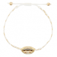 Anklets / Ankle bracelets Cowrie braided White-Gold