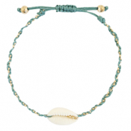 Anklets / Ankle bracelets Cowrie braided Ocean Blue