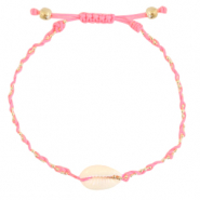 Anklets / Ankle bracelets Cowrie braided Pink