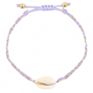 Anklets / Ankle bracelets Cowrie braided Lilac Purple