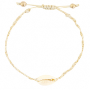 Anklets / Ankle bracelets Cowrie braided Sand Beige