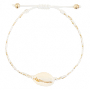 Anklets / Ankle bracelets Cowrie braided White